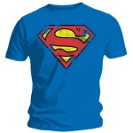 T-shirt Superman bleu - Logo