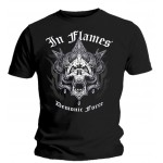 T-Shirt In Flames - Demonic Force