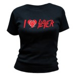 T-shirt Slayer - I Heart Slayer Pentagram - Femme