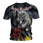 T-shirt Iron Maiden - Sketched Number Of The Beast Allover