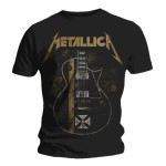 T-shirt Metallica - Hetfield Iron Cross Guitar