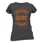 T-shirt AC/DC - About To Rock Banner - Femme