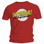 T-shirt The Big Bang Theory - Bazinga Red