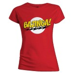 T-shirt The Big Bang Theory - Bazinga Red - Femme