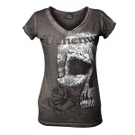 T-shirt Alchemy - Death With Roses - Femme