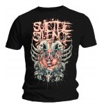 T-shirt Suicide Silence - Double Skull