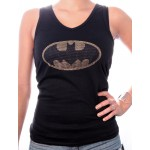 T-shirt Batman - Top Logo Strass - Femme