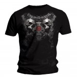 T-shirt Dream Theater - Double Skull