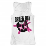T-shirt Green Day - Top Crossed Skull - Femme
