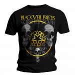 T-shirt Black Veil Brides - Grey Skull
